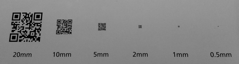 QRコードの高解像度描画